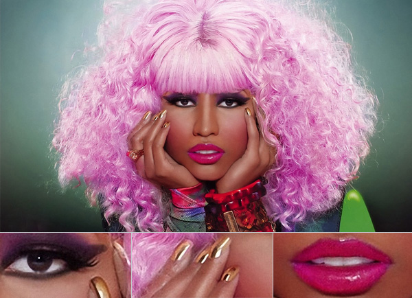 nicki-minaj-cheveux-rose-bouche-sexy-maquillage
