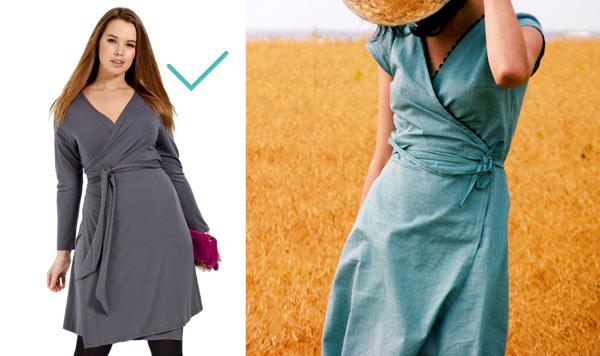 robe portefeuille pour ventre rond