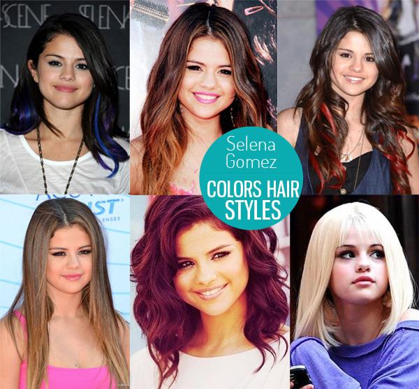La couleur des cheveux de selena gomez