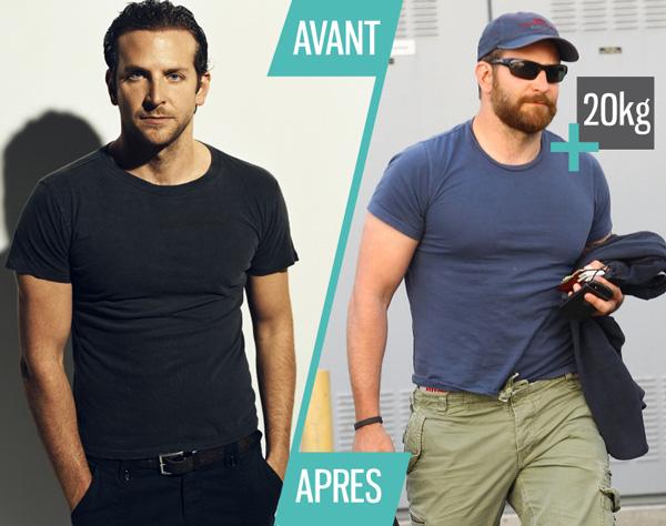 Bradley Cooper Gros Muscle Kilos