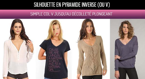 Comment s'habiller avec silhouette V ou pyramide inversée ...